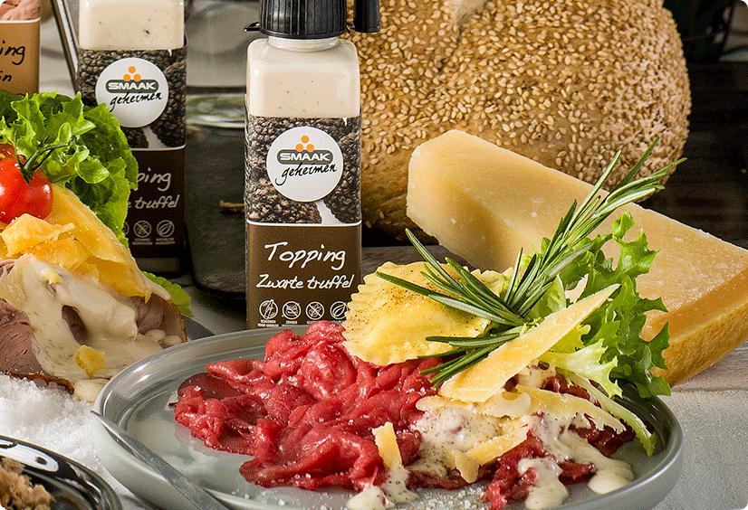 Smaakgeheimen recept carpaccio met ravioli