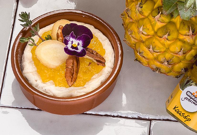 Smaakgeheimen Saint Marcellin met ananas gember