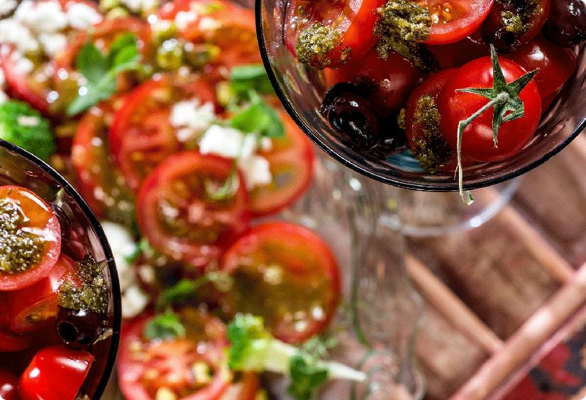 Smaakgeheimen tomatencarpaccio