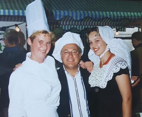 Miriam met Joop Braakhekke 1997